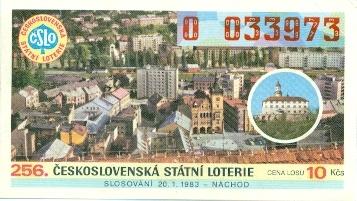 los 256. Československá státní loterie 1983 - los