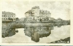 Břeclav - Rodinná a obchodní škola - pohlednice