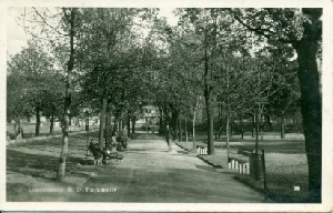 Břeclav - Lundenburg. N. D. Parkmotiv - pohlednice