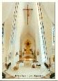 Břeclav - interiér kostela sv. Václava - pohlednice, foto V. Hošek